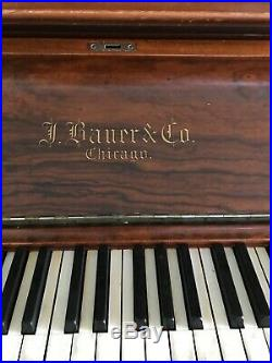 130 plus years old J. BAUER & CO. Antique upright piano in amazing condition
