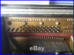 1870-1890 George Steck upright piano. Serial number 16774