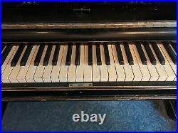 1888 Steinway & Sons Piano New-York Upright Model F Ebonized (black varnish)