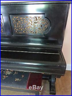 1889 Steinway & Sons Upright Piano, black