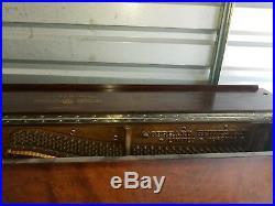 1911 Gerhard Heintzman Grand Piano. Also known as an upright grand