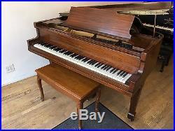 1920 George Steck Mahogany Satin Baby Grand Piano