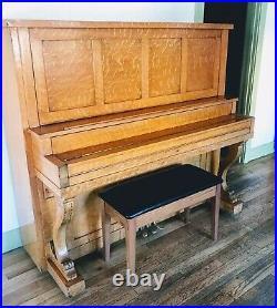 1920's Beautiful Classic Becker Bro's New York Upright Player Piano