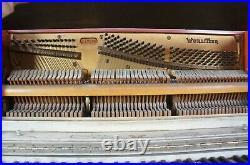 1930s Antique Wurlitzer Hand Painted Folk Art Spinet Studio Upright Piano 41