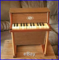 1953 Vintage Jaymar Upright Miniature toy Piano 25 Key Wooden Pat 2641135