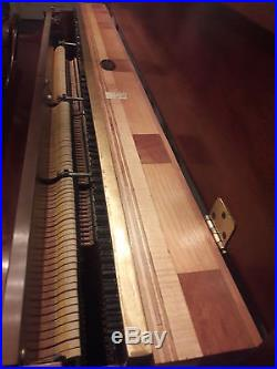 1973 Sohmer Console Brazilian Mahogany Finish Upright Piano With Bench New York