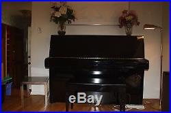 1987 Yamaha 48 Upright Piano (1980s Ebony finish Made in Japan) + BENCH