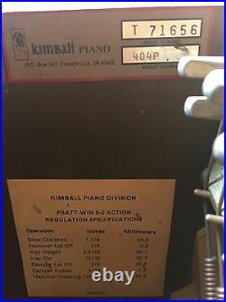 1988 Kimball 42 inch Upright Piano Series T71656 Model 404P 88 keys