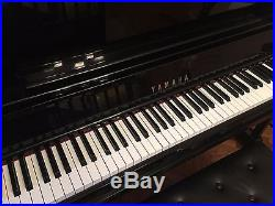 1988 Yamaha U3 Upright Piano High Gloss Ebony with Bench