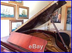 1995 Petrof Grand Piano Model IV 5' 8 Mahogany Hand Crafted Czech Republic