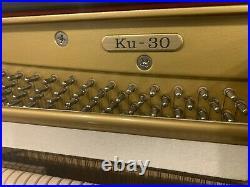 1998 Kawai KU-30 Profesional Upright piano, Japan 48 High Gloss Black MINT
