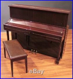 2001 Yamaha U1 48'' Studio Upright Piano Polished Mahogany