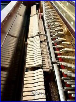 2007 Steinway K-52 Upright Piano 52 Satin Mahogany