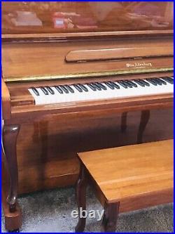 ALTENBURG SAMICK UPRIGHT PIANO WithBENCH CHERRY FINISH MINT COND
