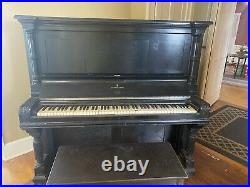 Antique 1878 Steinway & Sons Upright Piano