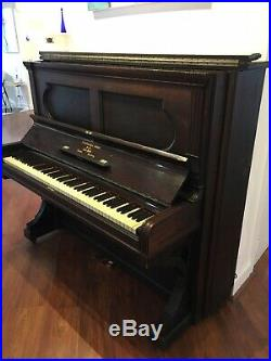 Antique 1880 Steinway upright piano New York London Hamburg