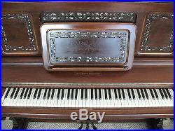 Antique Bradbury Upright Grand Piano 1890's New York Company