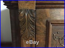 Antique Bush & Gerts UPRIGHT GRAND Piano Quarter Sawn Oak Ornate 1905 EUC