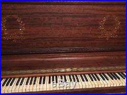 Antique Hardman and Peck Upright Grand Serial # 54884. Beautiful piano
