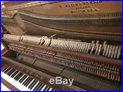 Antique Piano, Mason & Hamlin style 10 Upright Vintage Piano