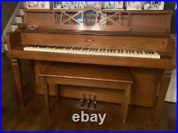 Antique The Grand Piano Company Grand Piano with Bench, Kincaid Spinet Upright