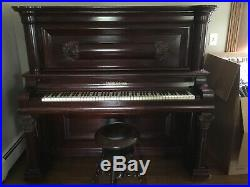Antique Upright Piano Bush And Lane. Plays Beautifully For Age