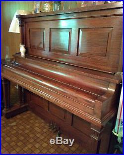 Antique Upright Piano Bush And Lane circa 1913, 88 key, perfect for restoration