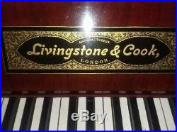 Antique Upright Piano Livingstone & Cook 2 Pedals 85 Keys with Covered Bench