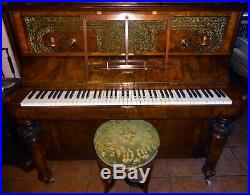 Antique Victorian Piano and bench