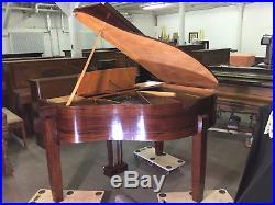 Art Déco Pleyel Crapaud 1956 mid-century-modern piano baby grand macassar