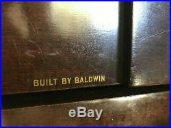BALDWIN ACROSONIC PIANO with stool and storage