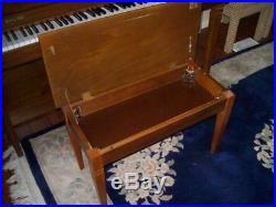 BALDWIN VERTICAL PIANO WITH BENCH 40 VERY GOOD CONDITION Serial # 1395216