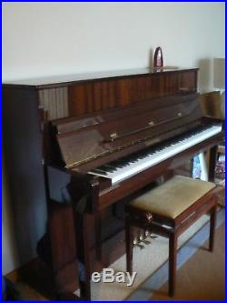 BECHSTEIN Gruppe Berlin Made Zimmerman Upright Piano Mahogany Immaculate 3 Pedal