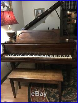 BOSTON Henry F Miller Baby Grand Piano Used Antique 1901 Great Condition Useable