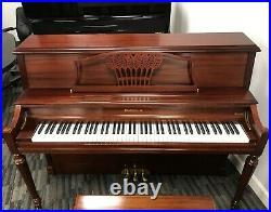 Baldwin 2090 45 Upright Piano Picarzo Pianos 2001 Model Satin Mahogany VIDEO