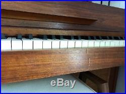 Baldwin Acrosonic Mid Century Modern Danish Teak Piano