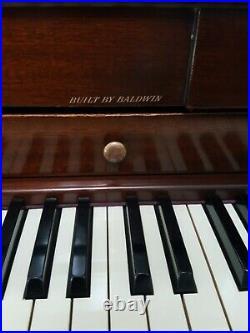 Baldwin Acrosonic Piano With Bench Mahogany Serial # 581710
