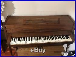 Baldwin Acrosonic Teak Spinet Piano 1960s Mid Century Danish Modern