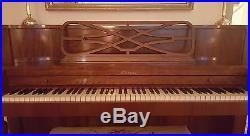 Baldwin Acrosonic Upright (Console) Piano - Mahogany case, Ivory keyboard