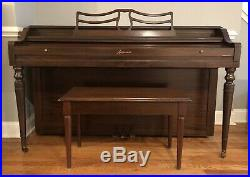 Baldwin Acrosonic Upright Piano With Piano Bench
