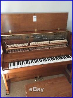 Baldwin Hamilton Model 243 HPA, 45 Studio Piano, 1998, Gloss Oak, Made in USA