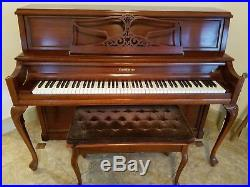 Baldwin Limited Edition Hamilton Upright Studio Piano with Matching Bench & Lamp