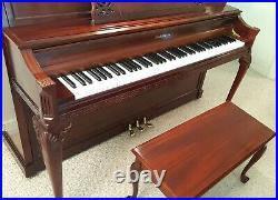 Baldwin Ltd Edition Hamilton Upright Piano with Bench U. S. A. Pristine Condition