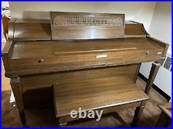 Baldwin Upright Piano With Matching Bench