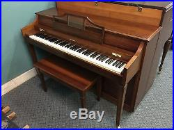 Baldwin Vertical/Spinet Piano, Walnut, Cleaned & Serviced