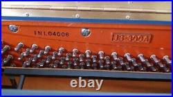Beautiful Blue Samick Upright Piano Artisan Collection Piece and Matching Bench