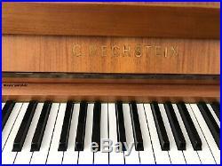 Bechstein Klavier in Nussbaum satiniert