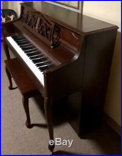 Bergmann Heritage Series Upright Piano Mahogany AF 108 FPC MUST PICKUP AGAWAM, MA