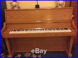 Boston blond upright piano 1185
