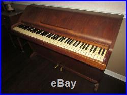 Brodr Jorgensen Rare Mid-Century Teak Upright Piano